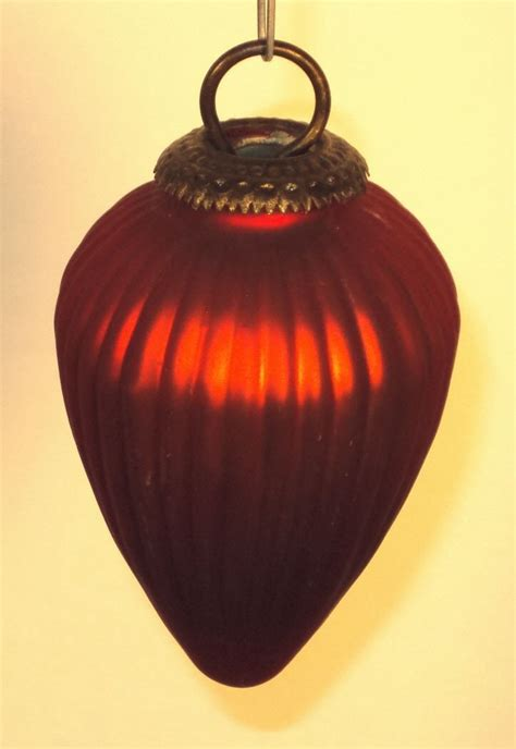red glass kugel christmas ornament from rlreproshop on