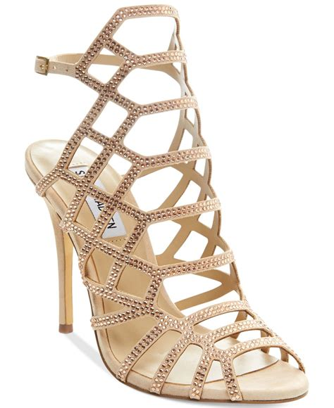 Steve Madden Slithur 5 steve madden slithur r upfront evening sandals in pink lyst