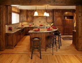 Center Island Kitchen Cabinets Knotty Alder Cabinets Knotty Alder Stained Cabinets With A Large Center Island