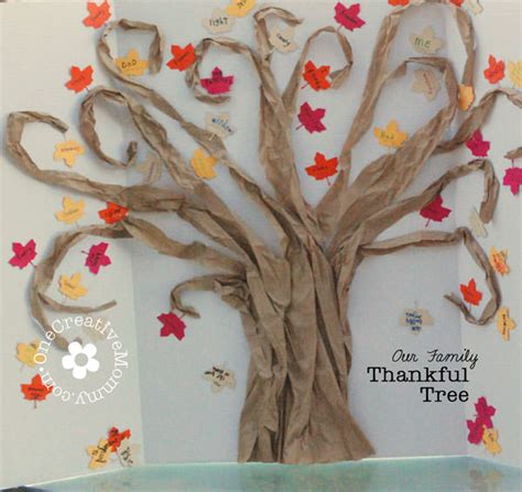 A Perfect Day Wall Mural thankful tree tutorial onecreativemommy com