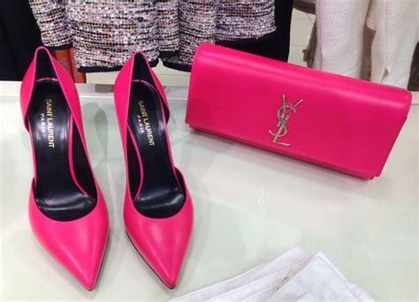 ysl pink clutch bag