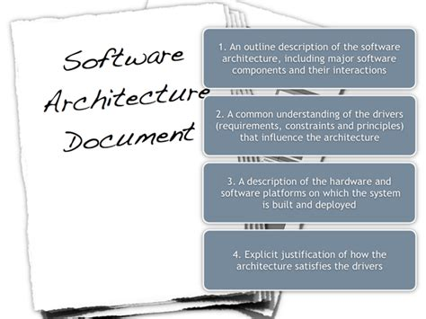 software architecture document software architecture document guidelines