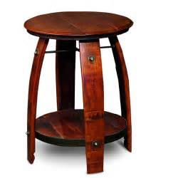 Wine Barrel End Table Wine Barrel End Table
