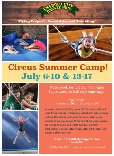 the emerald circus books summer programs circus c emerald city