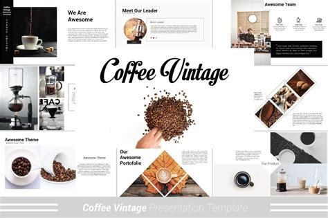 coffee vintage powerpoint template