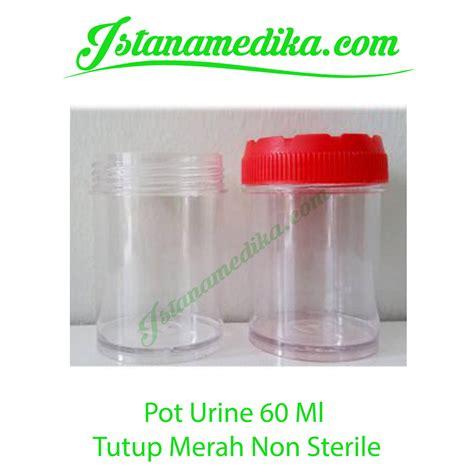 Urine Container Non Steril 60 Ml Pot Urine Wadah Sle Urine jual pot urine 60 ml tutup merah non sterile istana medika