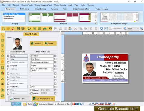 visitor pattern utility generate barcode com releases visitor management software