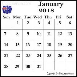 Calendar 2018 Template Australia 2018 January Printable Calendar Australia Blank Free