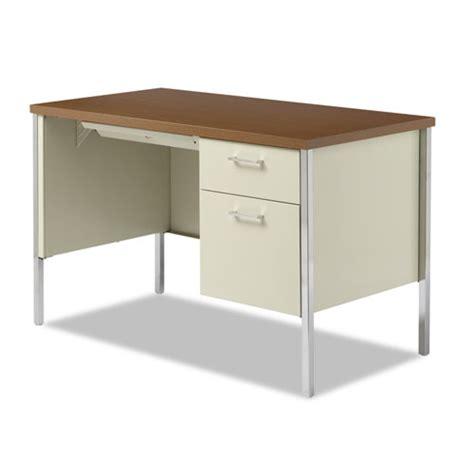 Alera Desks by Alera Sd4524pc Single Pedestal Steel Desk