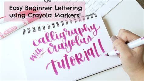 lettering tutorial easy crayola calligraphy tutorial easy and cheap hand