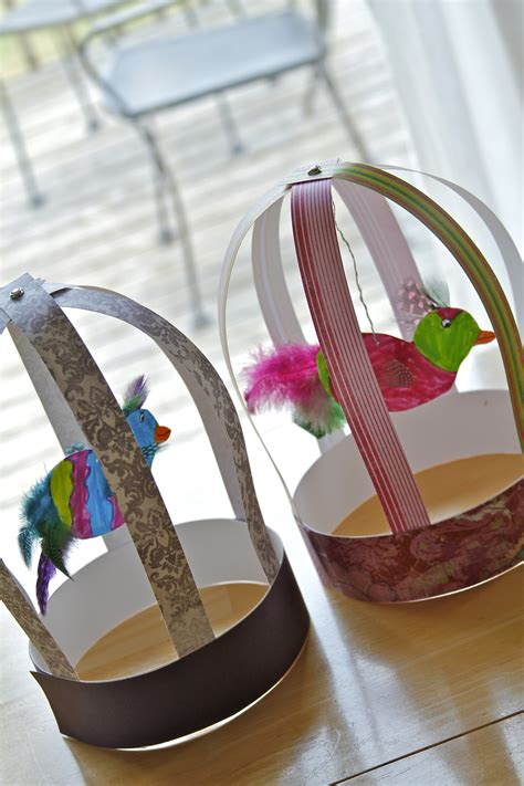 Paper Bird Cage Craft - s arts and crafts corner 2012 c