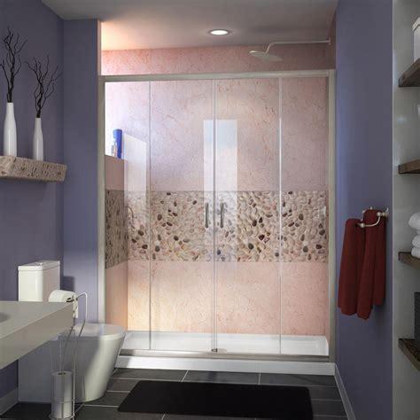 60 inch shower door dreamline visions 32 in x 60 in x 74 75 in framed