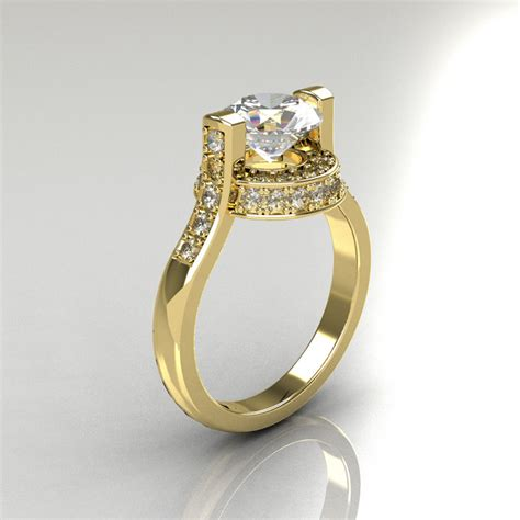 Italienische Trauringe by Italian Bridal 10k Yellow Gold 1 5 Carat Cz