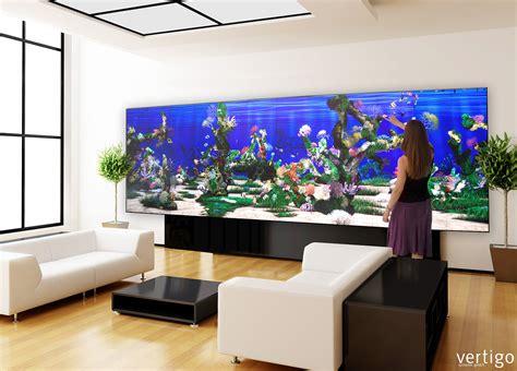 Aquarium In Wand by Living Wall Interaktive W 228 Nde Vertigo Systems Gmbh