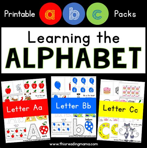printable alphabet readers learning the alphabet bundle pack