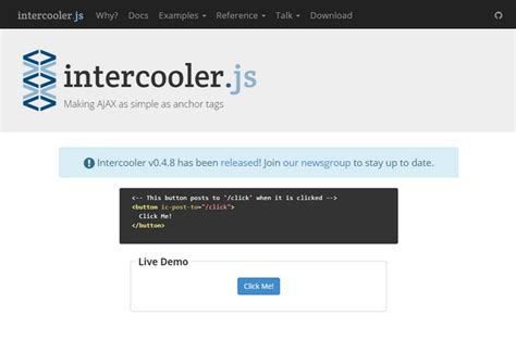 tutorial javascript injection intercooler js making ajax as simple as anchor tags