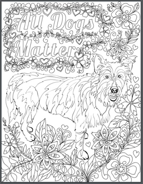 coloring books for adults dogs de stress with dogs downloadable 10 page coloring book