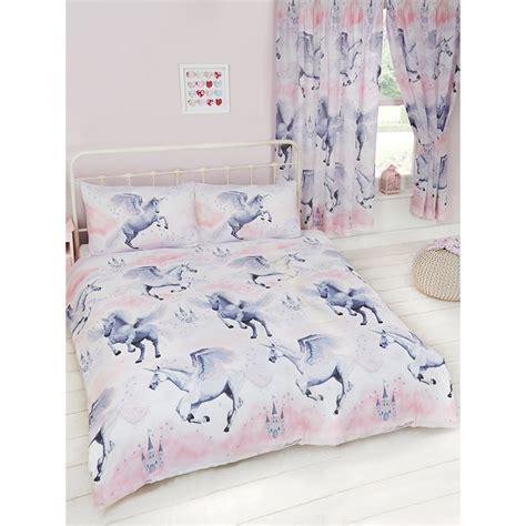 Tottenham Duvet Cover Pink Stardust Unicorn Double Duvet Cover Amp Pillowcase