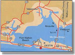 destin fl map florida maps