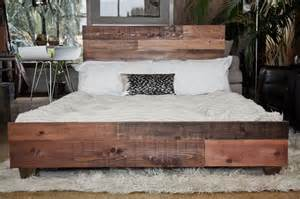Custom Wood Bed Frames Custom Reclaimed Barn Wood Platform Industrial Bed
