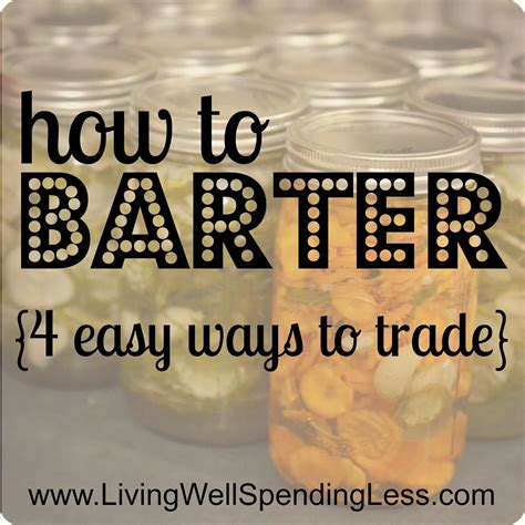 Bartering For Stuff Or Services by Try Bartering Day 25 Living Well Spending Less 174