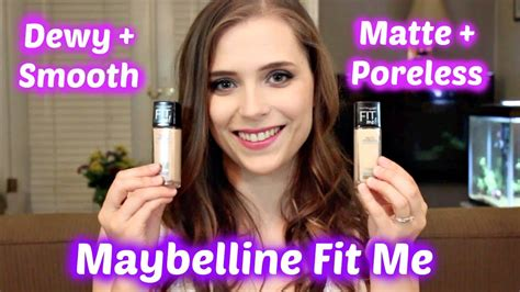 me smooth review maybelline fit me matte poreless vs dewy smooth