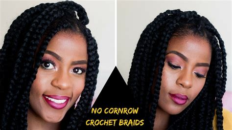 how to cornrow hair for crochet braids how to no cornrow crochet braids on short natural hair