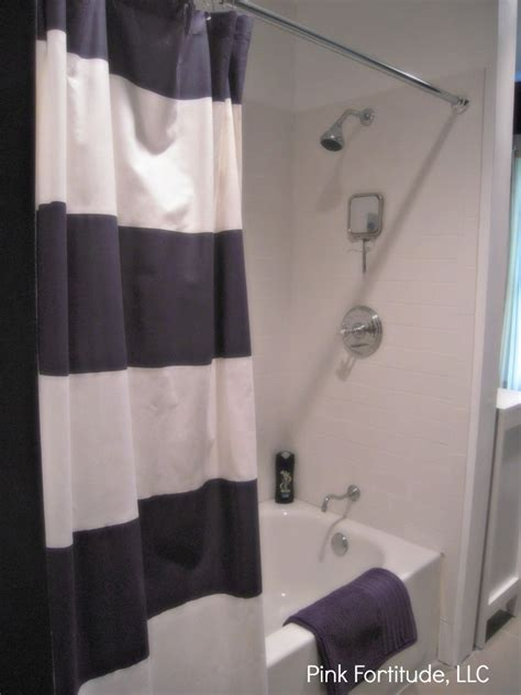 navy white stripe curtain navy blue and white striped shower curtain curtain