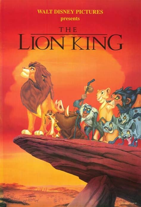 video film lion king the lion king movie poster
