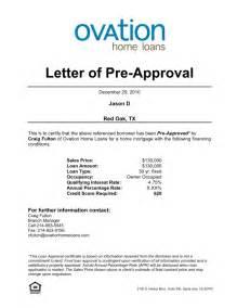 pre approval letter for home loan sle docoments ojazlink