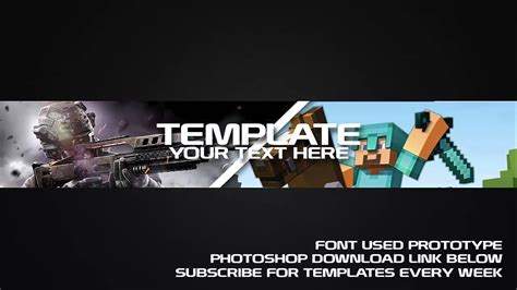 Gaming Channel Art Template 5 Free Photoshop Download Youtube Gaming Channel Template