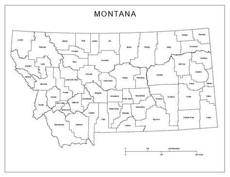 montana county map montana labeled map