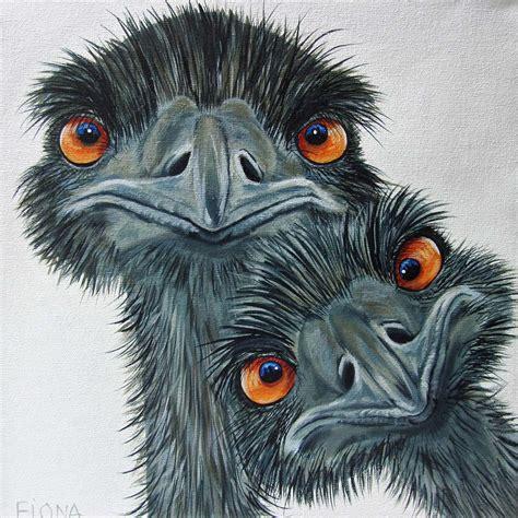 paint nite emu emu s by fiona groom 211 ye quot acrylic on canvas www