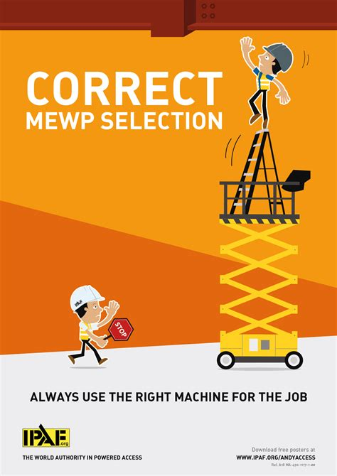 mewp safety toolbox talks andy access correct mewp selection ipaf