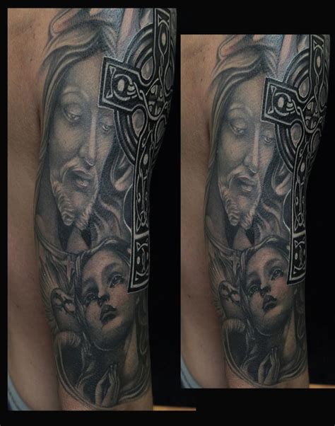 black and grey religious tattoos black and gray religious tattoo by mike demasi tattoonow