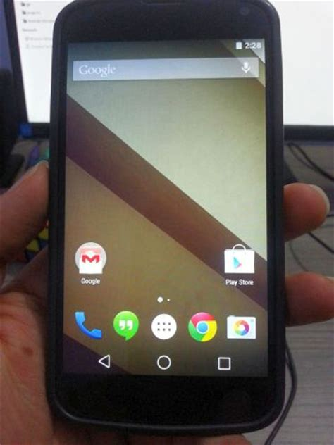 android l ported to the nexus 4 smartphone unofficially liliputing