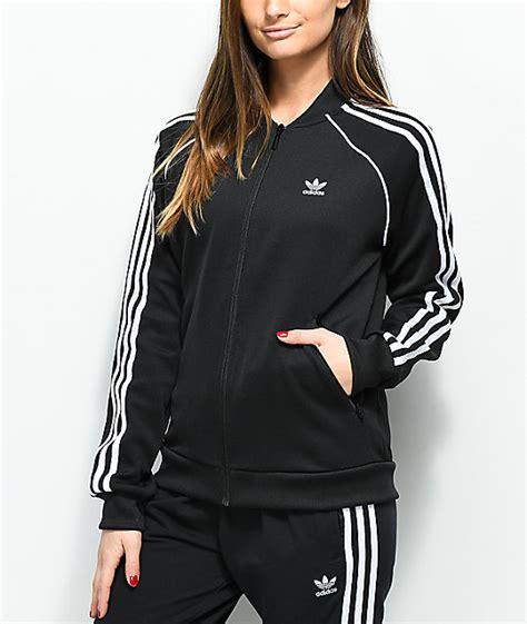 Sale Adidas Replika 3 Stripe Berkualitas adidas 3 stripe black track jacket zumiez