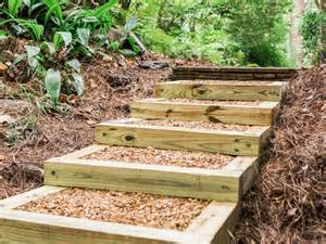 How To Make Stairs Out Of Wood by How To Build Outdoor Wood Steps How Tos Diy