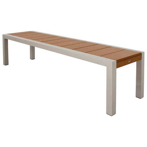 trex bench trex outdoor furniture surf city 68 in textured silver