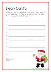 Santa Christmas List Template Christmas Planning Printable Kids Letter To Santa The