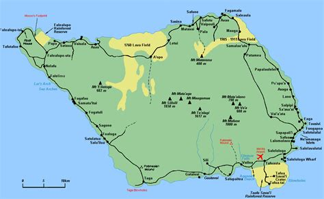 where is samoa on the map savaii island map samoa mappery