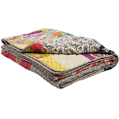 plaid tagesdecke romany patchwork quilt bedroom company