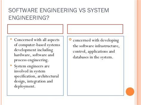 design engineer vs application engineer software engineering