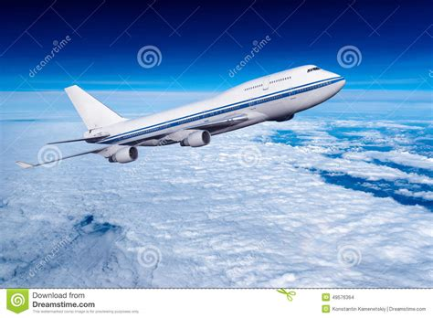 Fly Through The Air With The Greatest Of Ease At The Trapeze School New York by Passenger Airplane In The Clouds Stock Photo Image