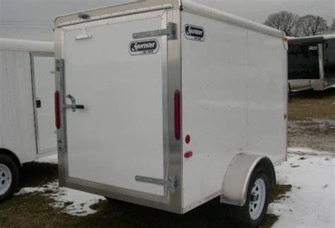 Trailer Back Door by Used 5x8 Carmate Enclosed Cargo Trailer Single Rear Door