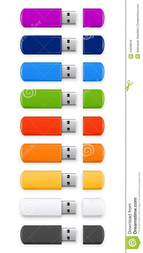 Thumb Drives For Every Color Of The Rainbow by Colored Usb Flash Stock Vector Image 44639976