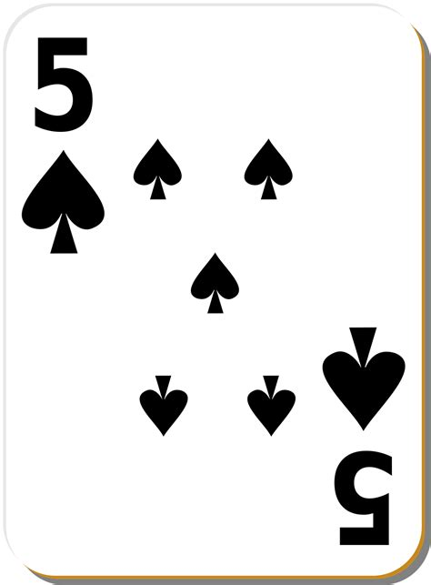 printable playing cards spades playing card free stock photo illustration of a five