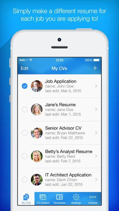 Resume Generator App resume builder resume maker app report on mobile