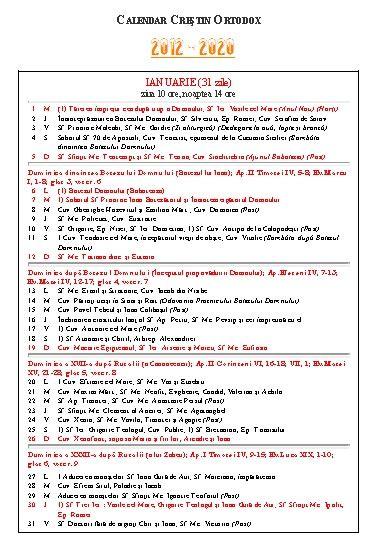 Calendar 2018 Ortodox Calandar Ortodox Pdf Tu Be Clip