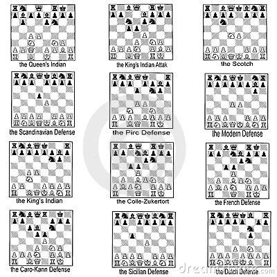 best chess opening collection of chess openings stock photography image